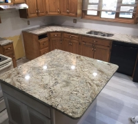 Sienna Bordeaux Granite Kitchen