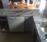 Viscon White Granite Kitchen