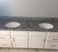 White Waves Granite Vanity