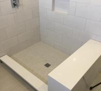 Bella White Quarrt Shower Ledge and Bench